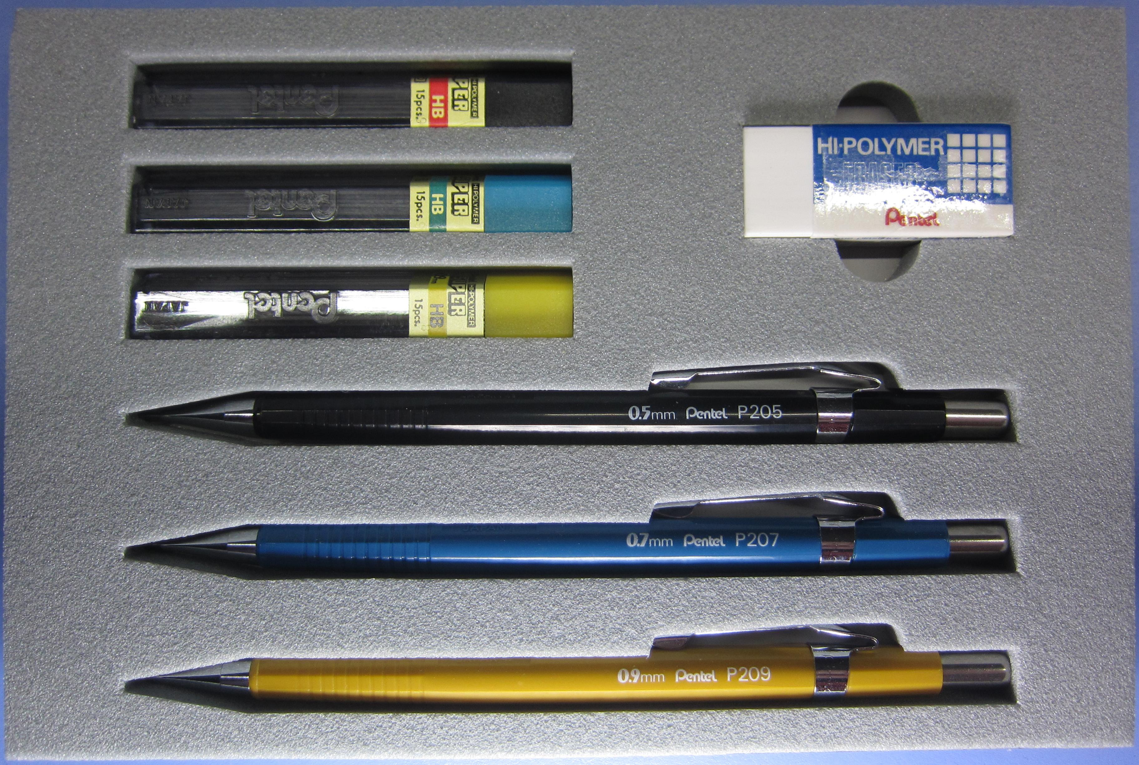 D - Present 2 - Pentel Presentation Set (P205, P207, P209) - 2452